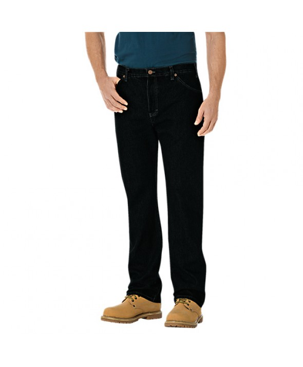 Dickies men's jean 5 pkt/paint/utility 14293RBB - Rinsed Overdyed Black