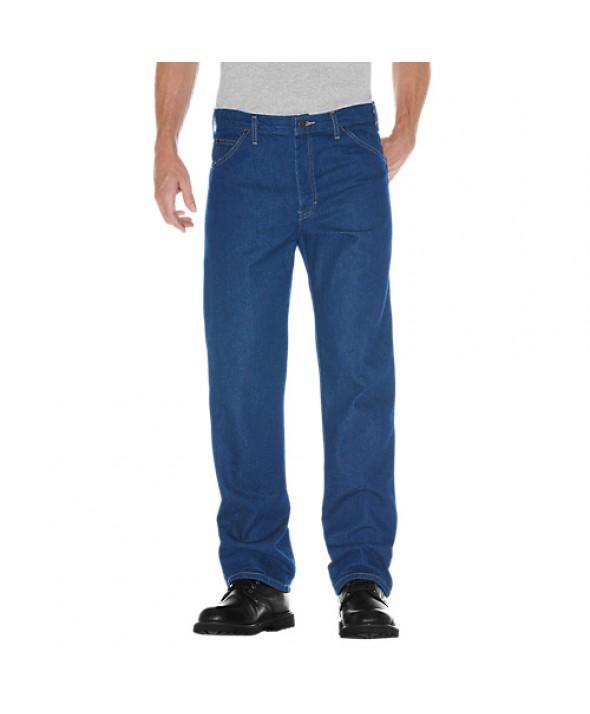 Dickies men's jean 5 pkt/paint/utility 9393SNB - Stonewashed Indigo Blue