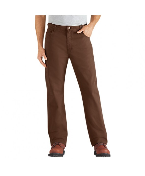 Dickies men's jean 5 pkt/paint/utility DD112RTB - Rinsed Timber