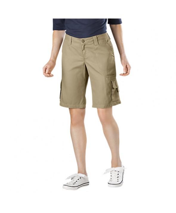Dickies women's shorts FR327RDS - Rinsed Desert Sand