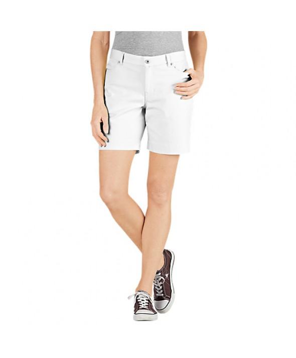 Dickies women's shorts FR340RWH - Rinsed White