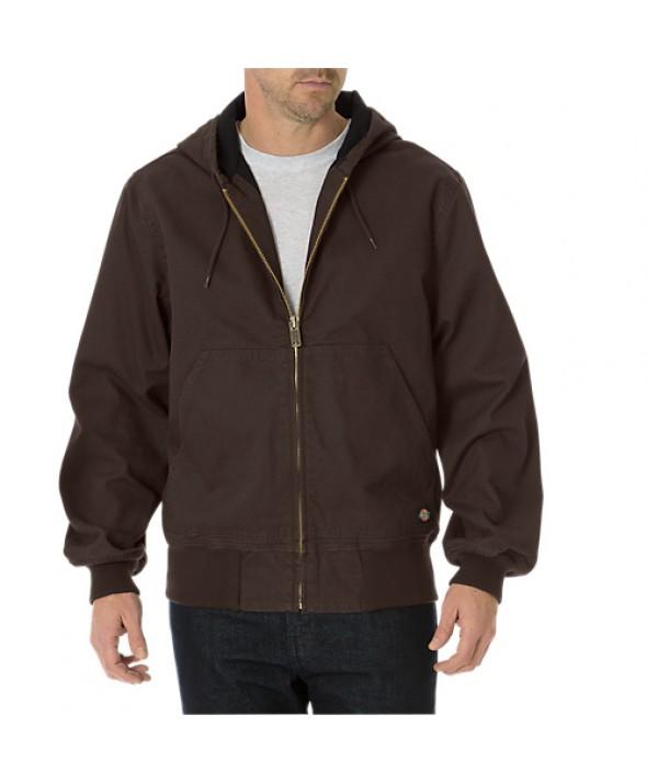 Dickies men's jackets TJ250RCB - Rinsed Chocolate Brown