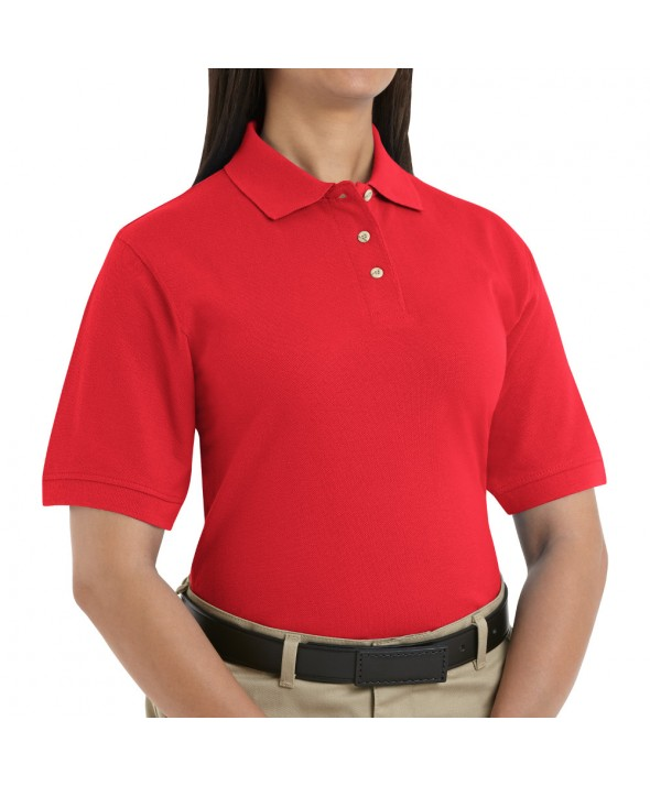 Red Kap 5702BR Womens Basic Pique Polo - Brick Red