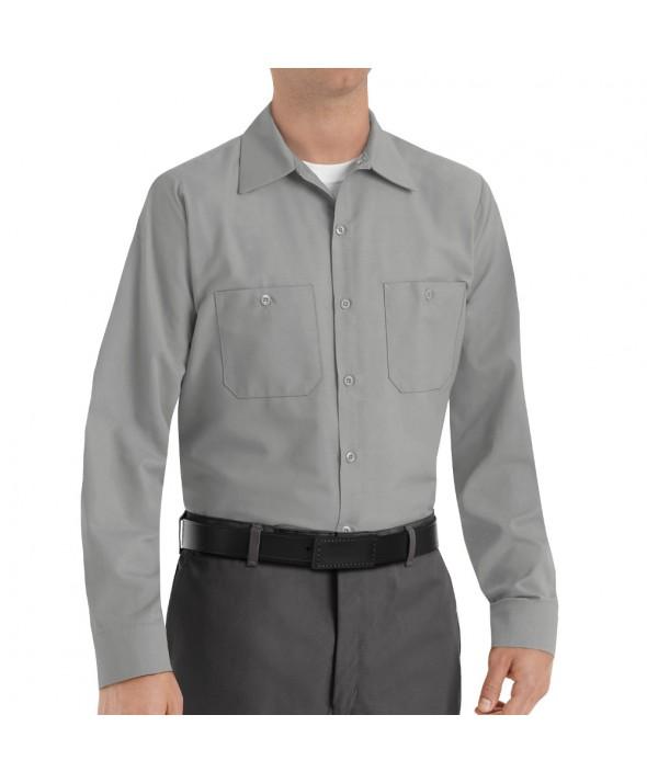 Red Kap SP14LA Mens Industrial Work Shirt - Light Grey