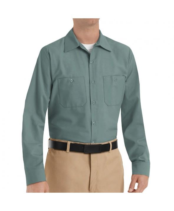 Red Kap SP14LG Mens Industrial Work Shirt - Light Green