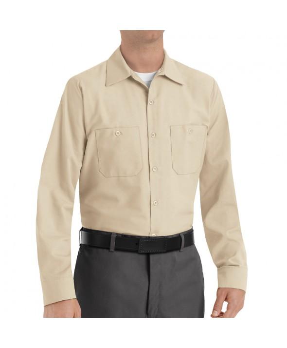 Red Kap SP14LT Mens Industrial Work Shirt - Light Tan