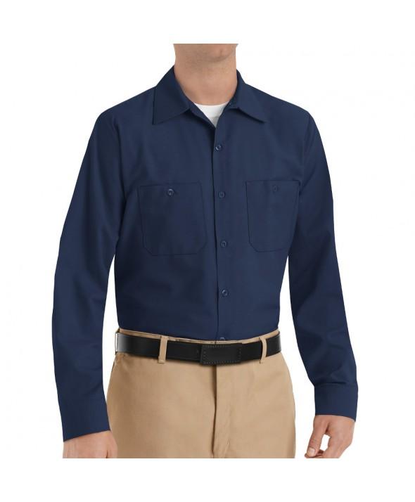 Red Kap SP14NV Mens Industrial Work Shirt - Navy