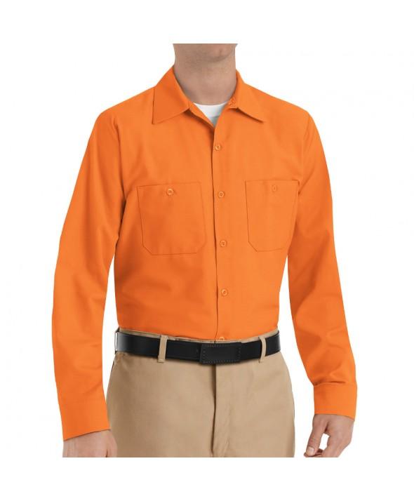 Red Kap SP14OR Mens Industrial Work Shirt - Orange