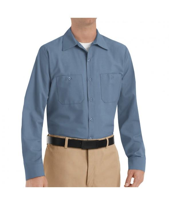 Red Kap SP14PB Mens Industrial Work Shirt - Postman Blue