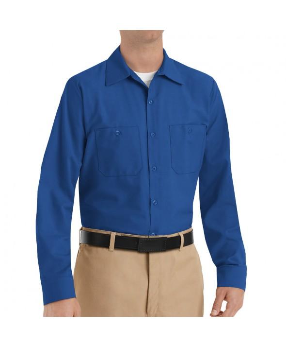 Red Kap SP14RB Mens Industrial Work Shirt - Royal Blue