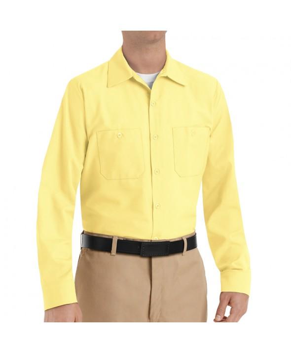 Red Kap SP14YE Mens Industrial Work Shirt - Yellow