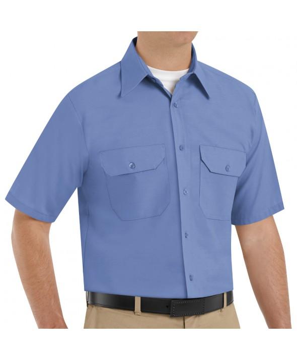 Red Kap SP60MB Mens Solid Dress Uniform Shirt - Petrol Blue
