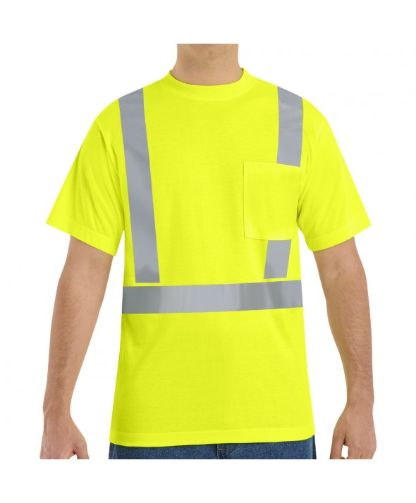 Red Kap SYK6HV HiVisibility Short Sleeve TShirt - Fluorescent Yellow / Green