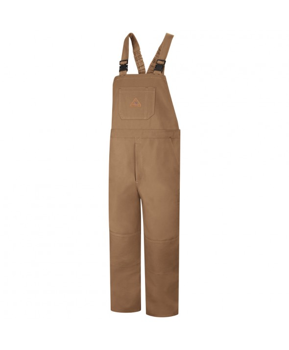 Bulwark BLF8BD Duck Unlined Bib Overall EXCEL FR ComforTouch - Brown Duck