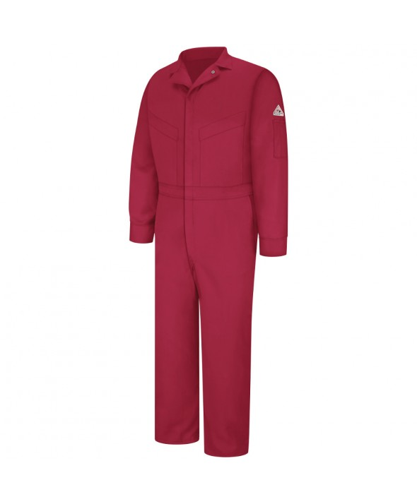 Bulwark CLD4RD Deluxe Coverall EXCEL FR ComforTouch 6 OZ - Red