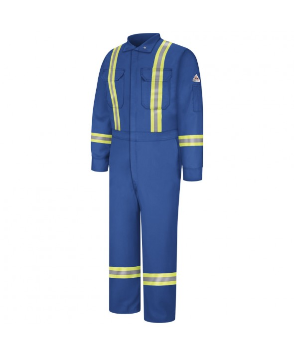 Bulwark CNBTRB Premium Coverall with Reflective Trim Nomex IIIA - Royal Blue