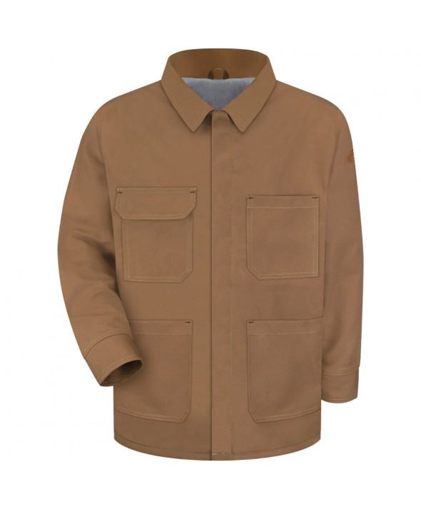 Bulwark JLC4BD Brown Duck Linemans Coat EXCEL FR ComforTouch - Brown Duck
