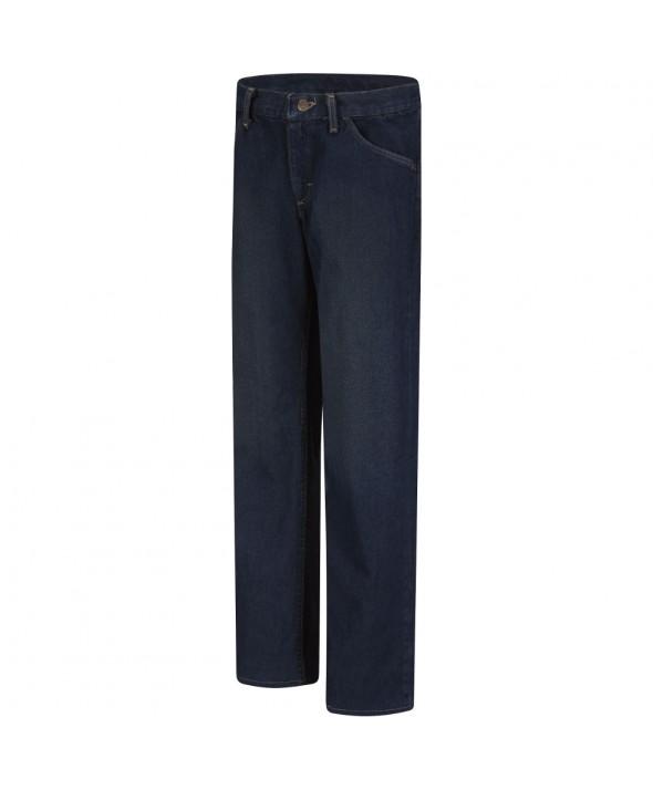 Bulwark PEJWSD Womens Straight Fit Sanded Denim Jean EXCEL FR 125 oz - Sanded Denim