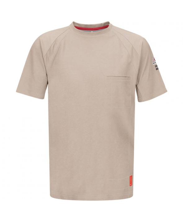Bulwark QT30TN IQ Short Sleeve Tee - Tan