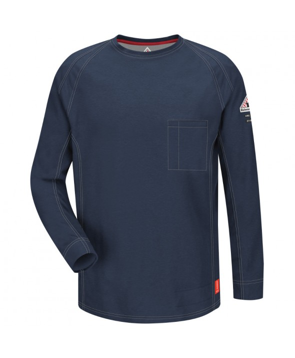 Bulwark QT32DB IQ Long Sleeve Tee - Dark Blue