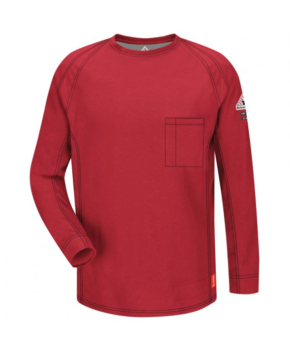 Bulwark QT32RD IQ Long Sleeve Tee - Red