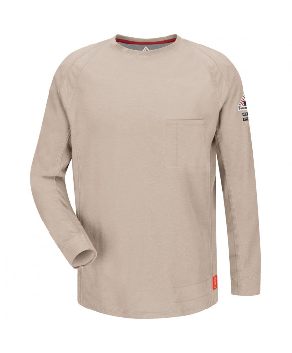 Bulwark QT32TN IQ Long Sleeve Tee - Tan