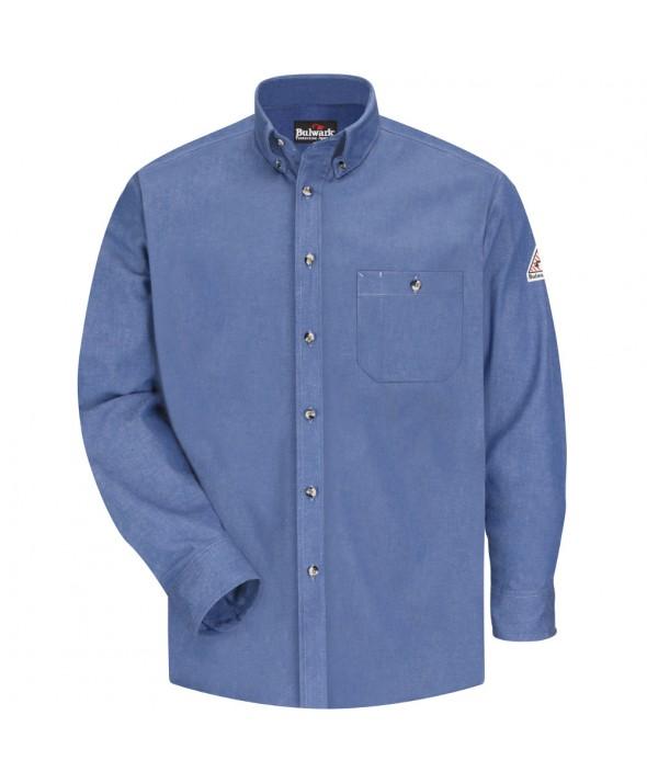 Bulwark SEG2LD Denim Dress Shirt EXCEL FR 7 oz - Light Blue Denim