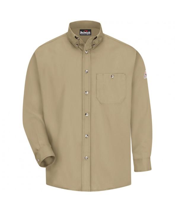 Bulwark SEG6KH Dress Shirt EXCEL FR 525 oz - Khaki