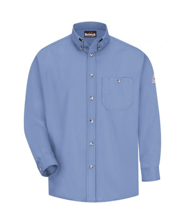 Bulwark SEG6LB Dress Shirt EXCEL FR 525 oz - Light Blue