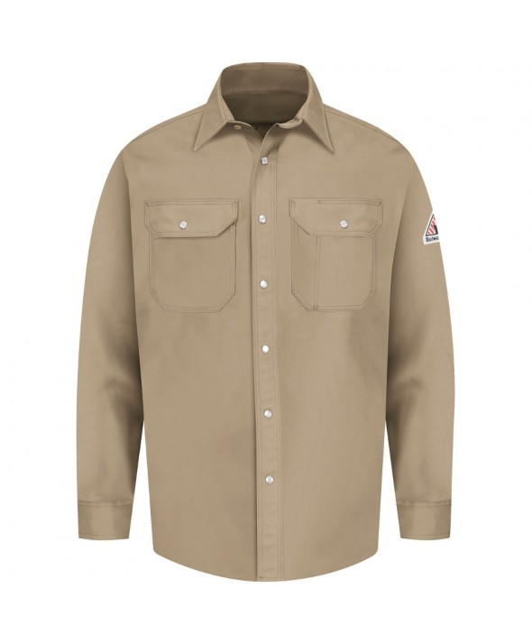Bulwark SES2TN SnapFront Uniform Shirt EXCEL FR 7 oz - Tan