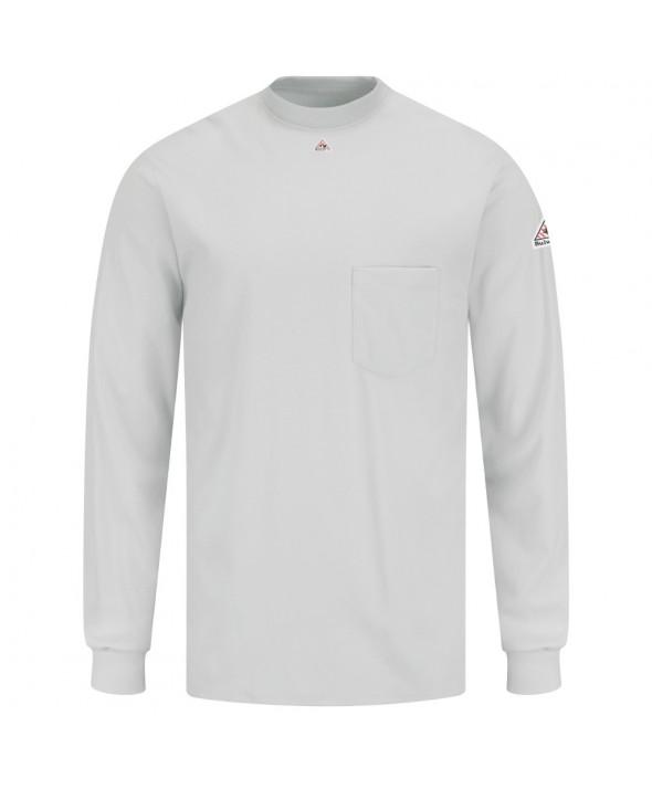 Bulwark SET2GY Long Sleeve Tagless TShirt EXCEL FR - Grey