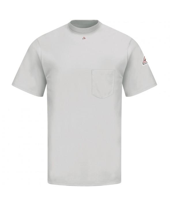 Bulwark SET8GY Short Sleeve Tagless TShirt EXCEL FR - Grey