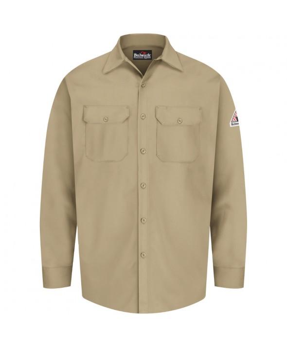 Bulwark SEW2KH Work Shirt EXCEL FR 7 oz - Khaki