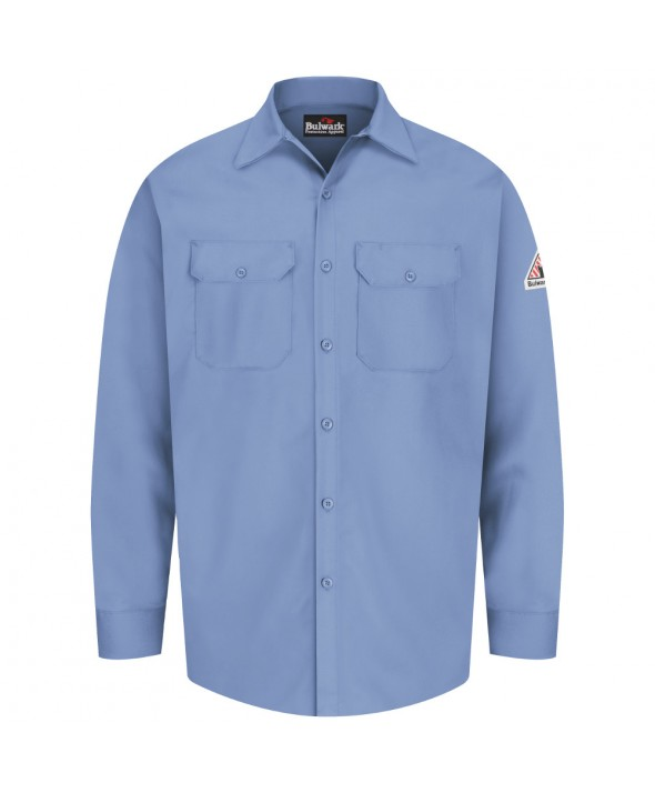 Bulwark SEW2LB Work Shirt EXCEL FR 7 oz - Light Blue