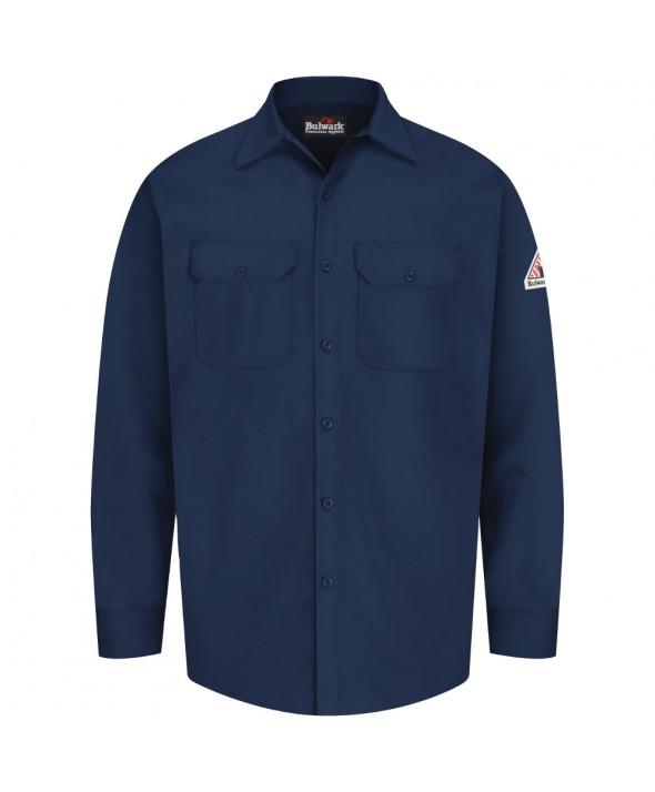Bulwark SEW2NV Work Shirt EXCEL FR 7 oz - Navy