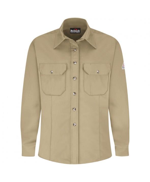 Bulwark SLU3KH Dress Uniform Shirt EXCEL FR ComforTouch 7 oz - Khaki