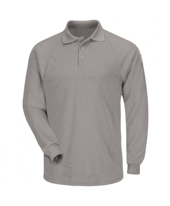 Bulwark SMP2GY Classic Long Sleeve Polo CoolTouch2 - Grey