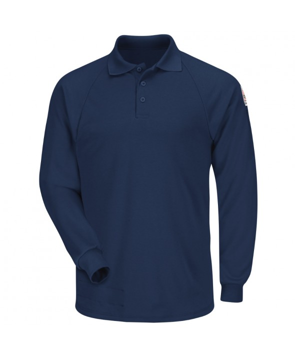 Bulwark SMP2NV Classic Long Sleeve Polo CoolTouch2 - Navy