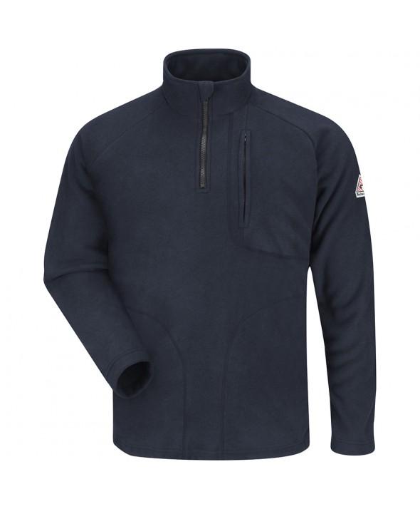 Bulwark SMZ6NV ZipFront Fleece Sweatshirt Modacrylic blend - Navy