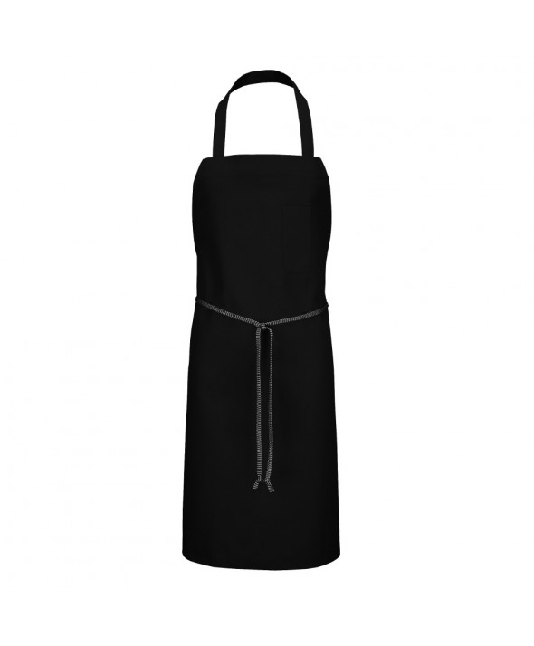 Chef Designs 1430BK Standard Bib Apron - Black