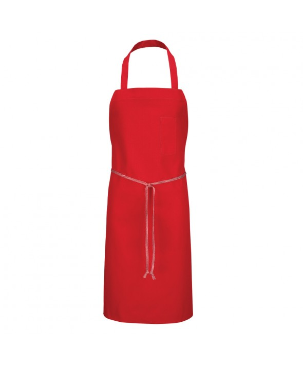 Chef Designs 1430RD Standard Bib Apron - Red