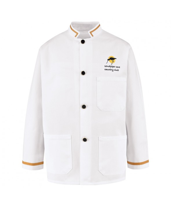 Chef Designs 4020WH Military Buscoat - White