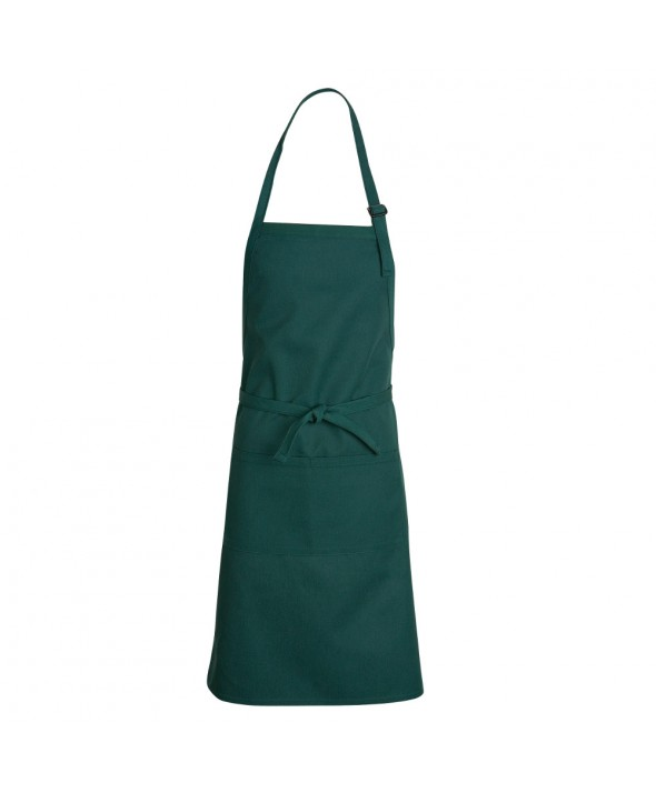 Chef Designs TT30HG Premium Bib Apron - Hunter Green