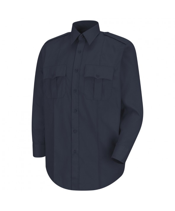 Horace Small HS1112 New Dimension Stretch Poplin Long Sleeve Shirt - Dark Navy