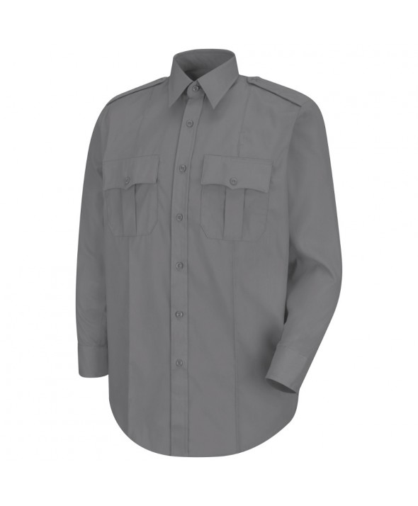 Horace Small HS1113 New Dimension Stretch Poplin Long Sleeve Shirt - Grey