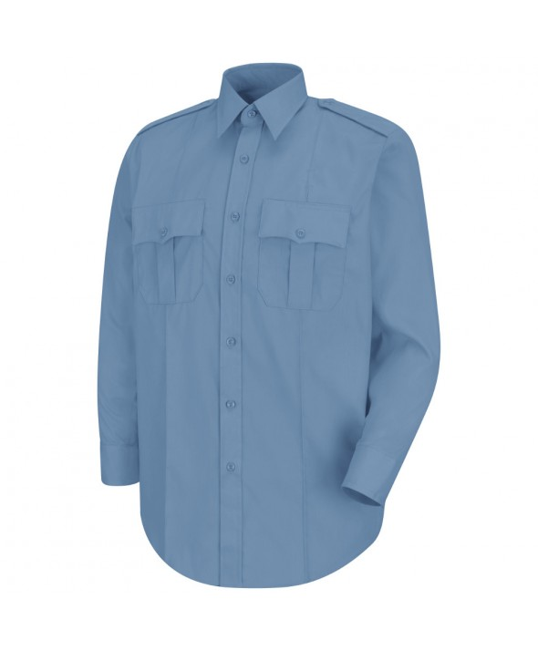 Horace Small HS1114 New Dimension Stretch Poplin Long Sleeve Shirt - Light Blue