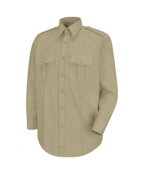 Horace Small HS1115 New Dimension Stretch Poplin Long Sleeve Shirt - Silver Tan