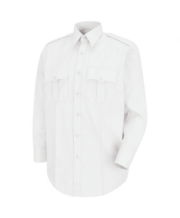 Horace Small HS1116 New Dimension Stretch Poplin Long Sleeve Shirt - White