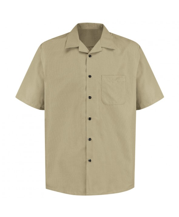 Red Kap 1K00PT Microfiber Convertible Collar Shirt - Putty