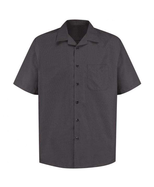 Red Kap 1K00ST Microfiber Convertible Collar Shirt - Storm